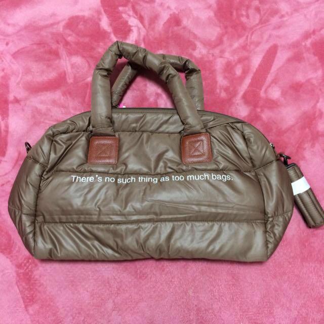 ボストンバッグチョコレートブラウンスカル レディースのバッグ(ボストンバッグ)の商品写真