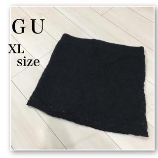 GU - GU♡レース タイトスカート♡黒♡vis.AZUL.earth.heather