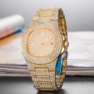アヴァランチ(AVALANCHE)のジルコニア 時計 キラキラ インポート 海外ラッパー hip hop(腕時計(アナログ))