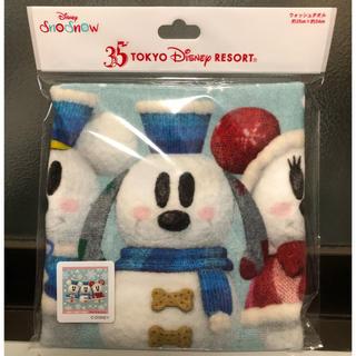 Disney - ☆記念半額SALE~送料込赤字覚悟☆TDL35周年スノースノー ウォッシュタオル