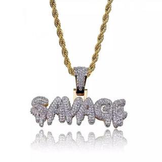アヴァランチ(AVALANCHE)のSavage ジルコニア ネックレス インポート 海外ラッパー hip hop(ネックレス)