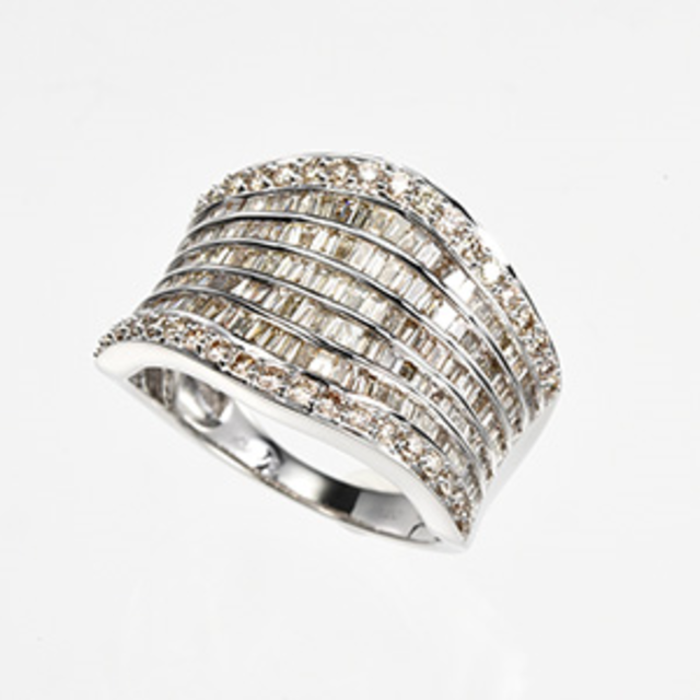 ブラウンダイヤリング 1.6CT レディースのアクセサリー(リング(指輪))の商品写真