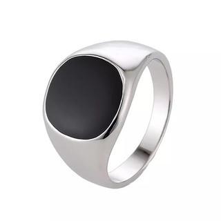 メンズ ステンレスリング✨ 印台カレッジリング(リング(指輪))