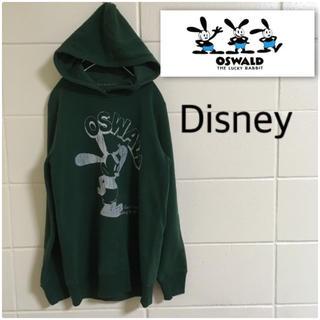 ディズニー(Disney)のディズニー オズワルド でかプリント レディースL パーカー スウェット(パーカー)