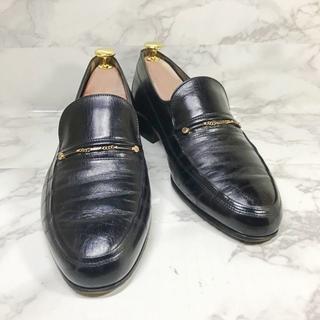 バリー(Bally)の638/BALLY バリー ローファー スリッポン サイズ6 黒 革靴(ドレス/ビジネス)