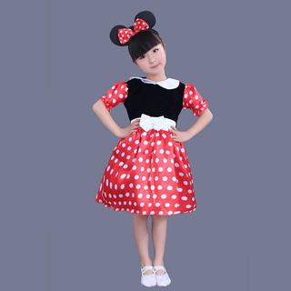 ディズニー(Disney)のミニーコスプレ ミニーチュールワンピース❤️サイズ90(ドレス/フォーマル)