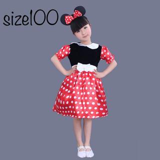 ディズニー(Disney)のミニーコスプレ ミニーチュールワンピース❤️サイズ100(ドレス/フォーマル)