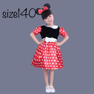 ディズニー(Disney)のミニーコスプレ ミニーチュールワンピース❤️サイズ140(ドレス/フォーマル)