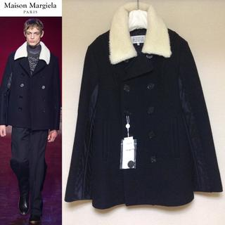 マルタンマルジェラ(Maison Martin Margiela)の名作■44■美品■マルジェラ 15aw■ボア 切り替え Pコート■黒■4743(ピーコート)