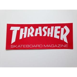スラッシャー(THRASHER)のThrasher ステッカー レッド 携帯にも合うサイズ(その他)