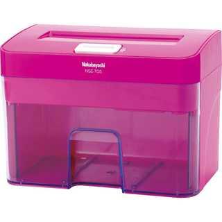 これは買い☆ナカバヤシ シュレッダー 電動 クロスカット ピンク(オフィス用品一般)