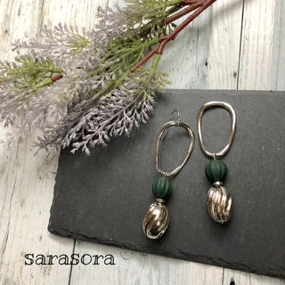 384 silver earrings ピアスORイヤリング(ピアス)