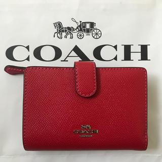 COACH - 新品!コーチ 二つ折り財布 ブライトレッド