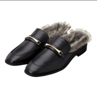 ジーユー(GU)の美品・ファーローファー(ローファー/革靴)