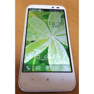 シャープ(SHARP)のSHARP AQUOS PHONE SHL22 ホワイト 美品(スマートフォン本体)