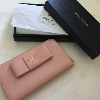 PRADA - プラダ PRADA リボン 財布 ピンク