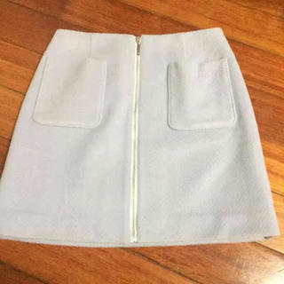 ビーラディエンス(BE RADIANCE)のビーラディエンス 水色 台形スカート(ミニスカート)