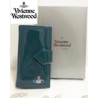 ヴィヴィアンウエストウッド(Vivienne Westwood)の大人気!【新品】Vivienne Westwood 手帳型財布 グリーン 本物(財布)