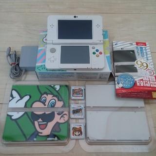 ニンテンドー3DS(ニンテンドー3DS)のnew 3DS ホワイト ゲーム3本 おまけ付き(携帯用ゲーム本体)