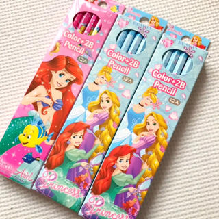 ディズニー(Disney)の新品 2B 鉛筆 3ダースセット プリンセス(鉛筆)