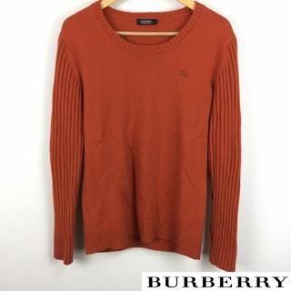 バーバリーブラックレーベル(BURBERRY BLACK LABEL)の美品 BURBERRY BLACK LABEL 長袖ニット オレンジ サイズ3(ニット/セーター)