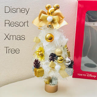ディズニー(Disney)の極美品◆入手困難 ディズニーリゾート限定 ホワイトクリスマスツリー 2017年版(置物)