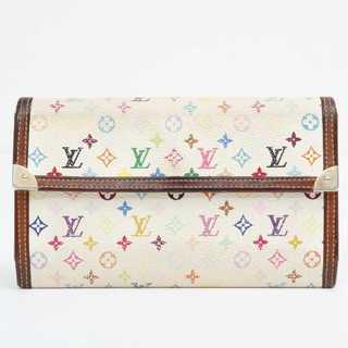 ルイヴィトン(LOUIS VUITTON)の交渉歓迎 本物  美品 ルイ ヴィトン マルチカラー 長財布(財布)
