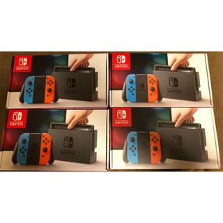 ニンテンドースイッチ(Nintendo Switch)の新品未開封 Nintendo Switch ネオンブルー ネオンレッド 4台(家庭用ゲーム本体)