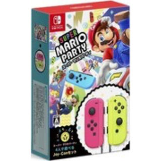 ニンテンドースイッチ(Nintendo Switch)の新品 switchマリオパーティージョイコンセット(家庭用ゲームソフト)