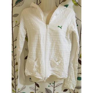 プーマ(PUMA)の【PUMA】白×緑ロゴのパーカー(パーカー)