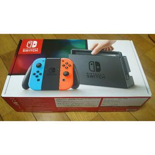 ニンテンドウ(任天堂)の送料込み 新品 Nintendo Switch ネオンブルー ネオンレッド(家庭用ゲーム本体)