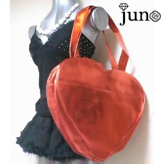 ジェーエスジー(JSG)の JSG ハート シャイニー メタリック バッグ 新品 赤 レッド (ハンドバッグ)