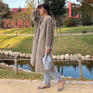 ザラ(ZARA)の♡新品♡ ZARA ザラ コントラスト リバーシブル ボア ムートンコート L(ロングコート)