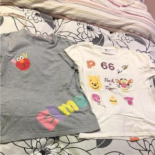 ディズニー(Disney)のセサミストリート   ☆ ディズニー Tシャツ 2点セット(Tシャツ(半袖/袖なし))