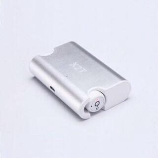 ワイヤレス マイク内蔵 モバイルバッテリー 充電 充電器 iPhone 携帯 銀(ヘッドフォン/イヤフォン)