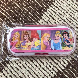 ディズニー(Disney)のプリンセス トリオ お箸 フォーク スプーン(弁当用品)