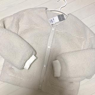 ジーユー(GU)のGIRLSボアブルゾン150センチ(ジャケット/上着)