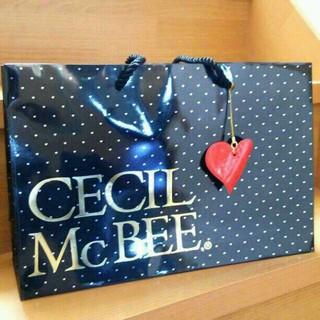 セシルマクビー(CECIL McBEE)のセシルマクビー 限定ショッパー(ハート)(ショップ袋)
