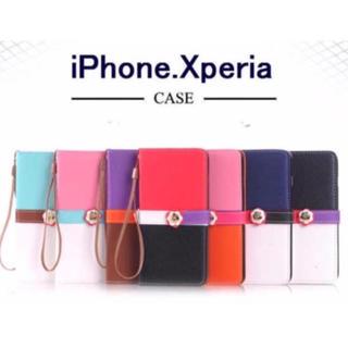 (人気商品)iphone.Xperia対応 お洒落なケース(7色)(iPhoneケース)