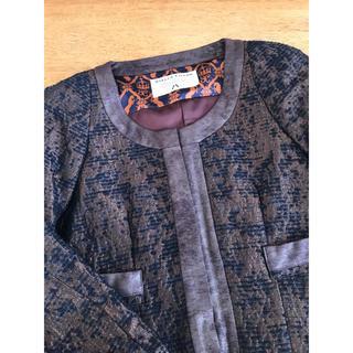 バビロン(BABYLONE)の美品 ノーカラージャケット 、ツイード バビロン 値下げ(ノーカラージャケット)