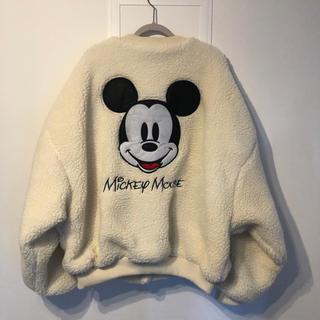 ディズニー(Disney)の新品❤︎ ミッキー ボア ジャケット ブルゾン アイボリー ホワイト(ブルゾン)