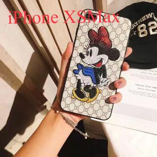 ディズニー(Disney)のiPhone XSMaxケース ミニーちゃん  刺繍   新品(iPhoneケース)