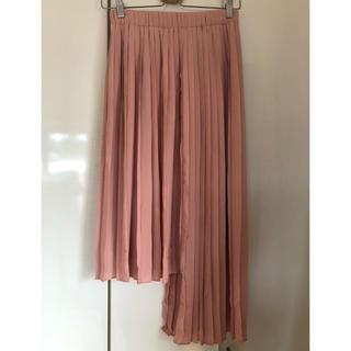 ザラ(ZARA)の最終価格 ZARA ザラ プリーツスカート  ベビーピンク パステルピンク(ロングスカート)
