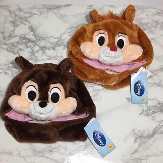ディズニー(Disney)の即購入OK!新品タグ付★ディズニー チップ&デール かぶり物 2点セット(キャラクターグッズ)