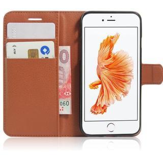 iPhone7 iPhone8 ブラウン シンプル 手帳型ケース(iPhoneケース)