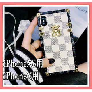 iPhoneX/iPhoneXS 用ケース トランク型  話題沸騰商品♡ホワイト(iPhoneケース)