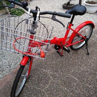 COASTAL 折りたたみ自転車 レッド