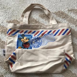 ディズニー(Disney)のミッキー ディズニー ランチバック お弁当袋 手提げ布袋(弁当用品)