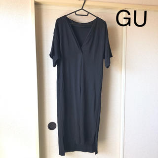 GU - GU ワンピース 無印 ブラック