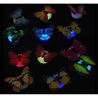 ロマンチックバタフライ♡装飾LEDライト夜の光(12枚セット)(モビール)